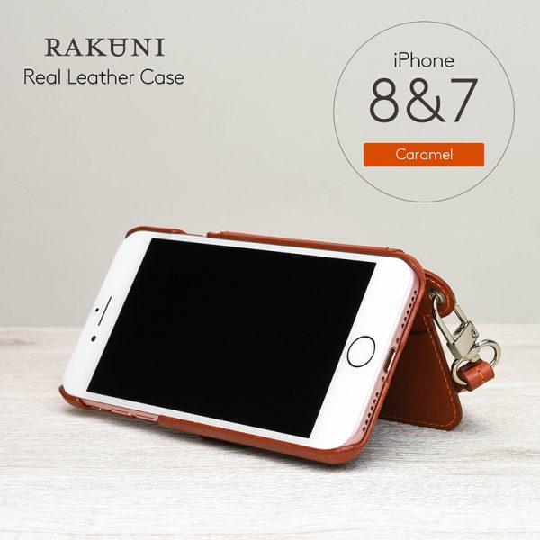 RAKUNI(ラクニ)for iPhone 7/8 キャラメル(Caramel)