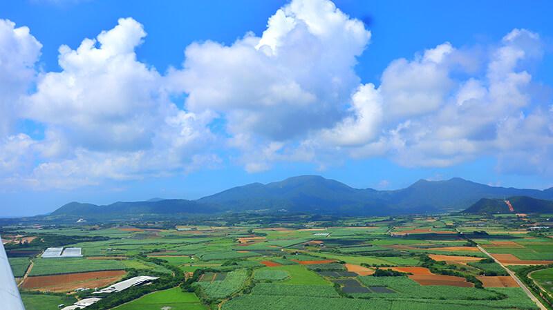 沖縄、八重山諸島、石垣島、空撮
