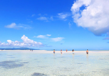 沖縄の八重山諸島、石垣島の離島、竹富島、コンドイビーチ