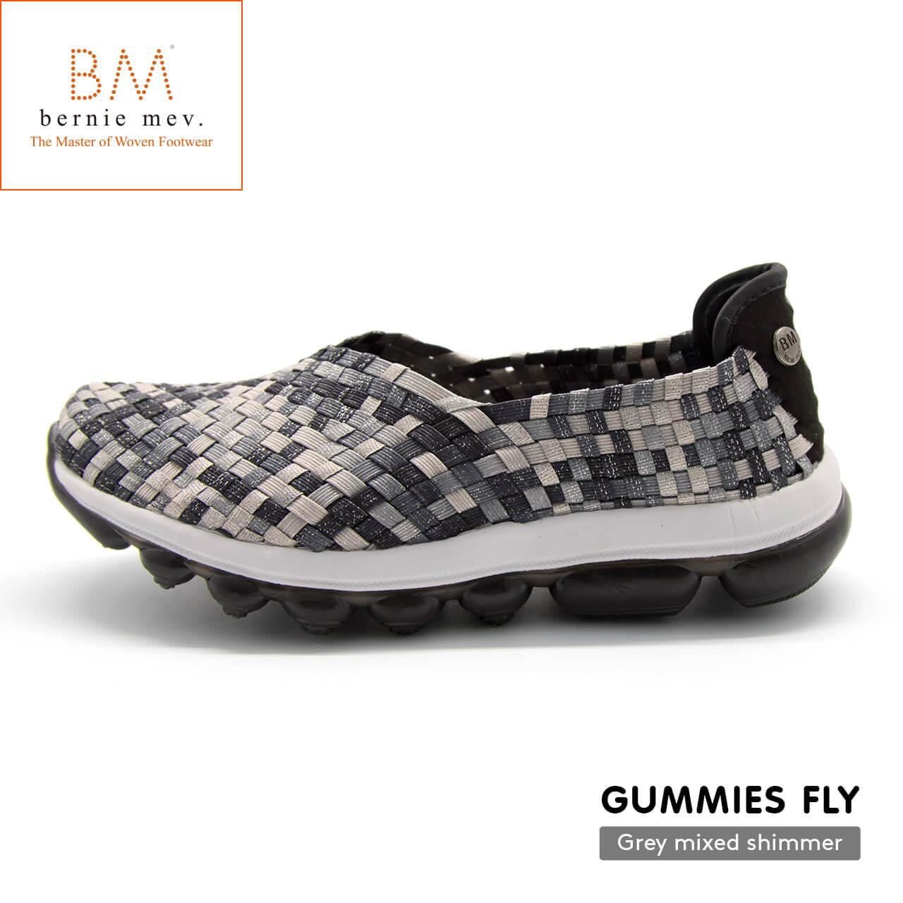 Bernie mev.(バーニーメブ)Gummies Fly(ガミーズフライ)Grey Mixed Shimmer(グレイミックスドシマー)履きやすい軽いおしゃれスニーカー