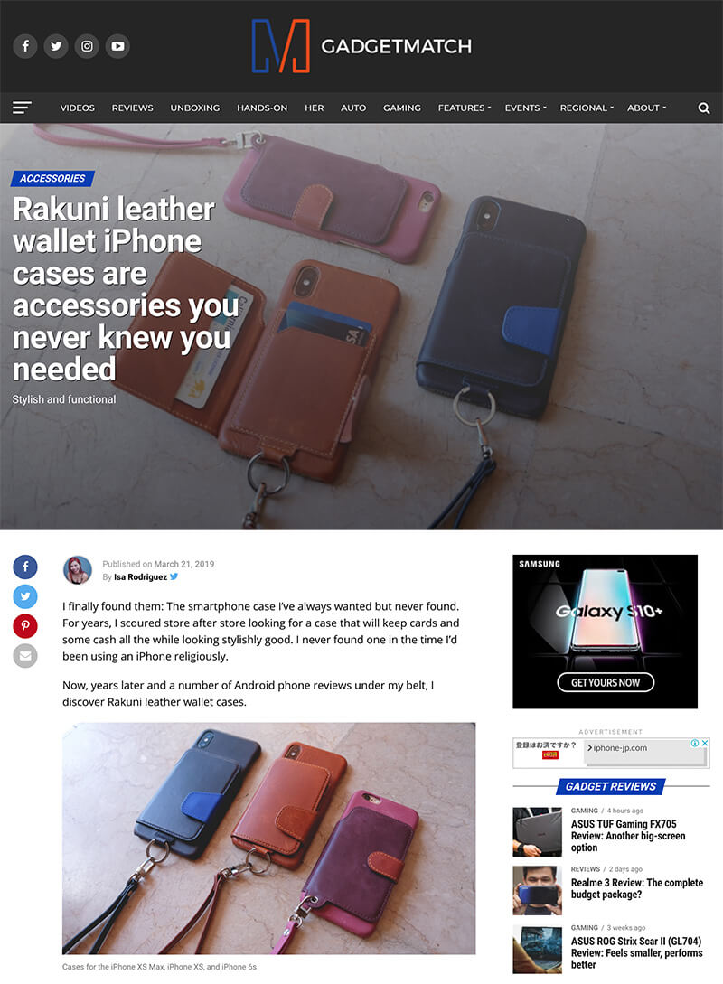 Gadget Match - Rakuni leather wallet iPhone cases are accessories you never knew you needed - Stylish and functional