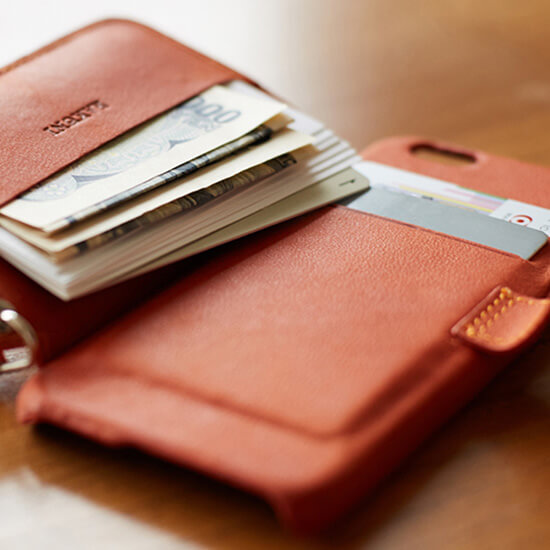 財布一体型本革iPhoneケース RAKUNI(ラクニ)