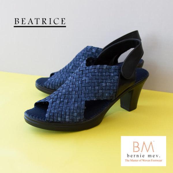 Bernie mev.(バーニーメブ)Beatrice(ベアトリアス)Jeans(ジーンズ)楽に歩ける7.5cm足長ヒールサンダル
